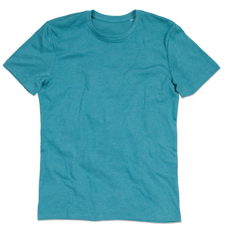 t-shirt da uomo con girocollo in melange di cotone