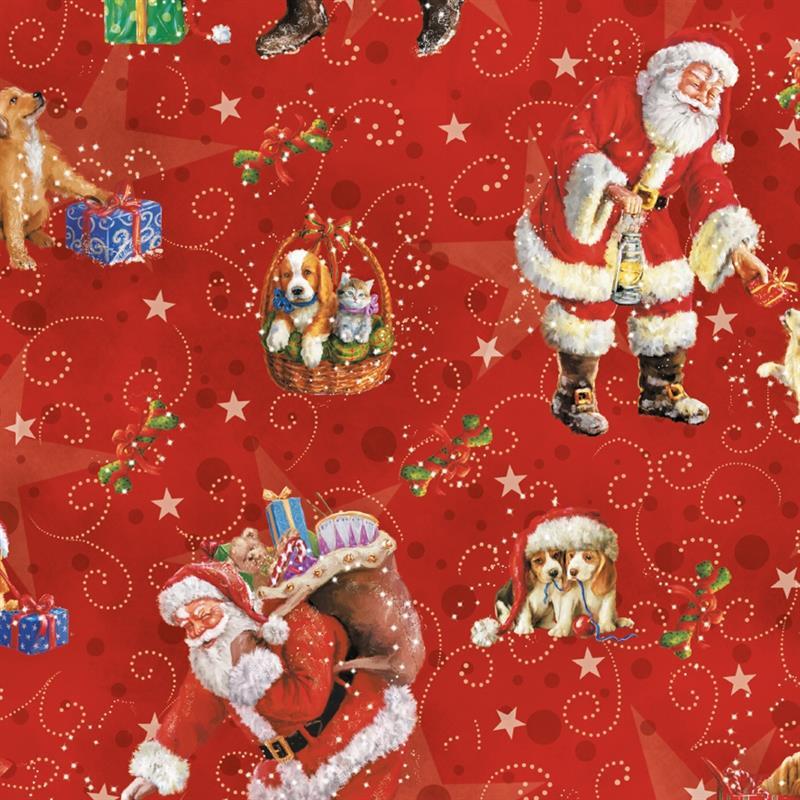 carta da regalo babbo natale classico (50 fogli)