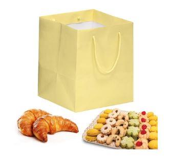 shopper in carta kraft vaniglia manico cotone
