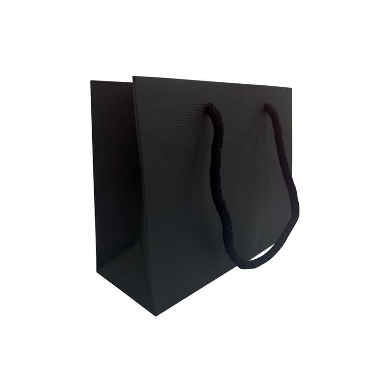 carta tinta in pasta nera con goffratura wave corde in cotone nero