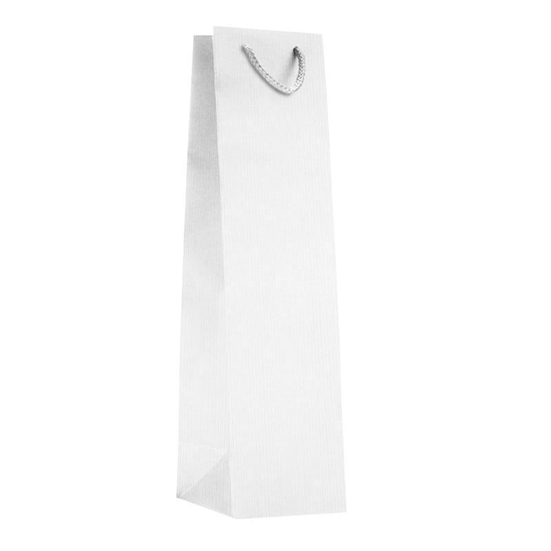 shopper in carta sealing bianco manico cotone passante per i soffietti