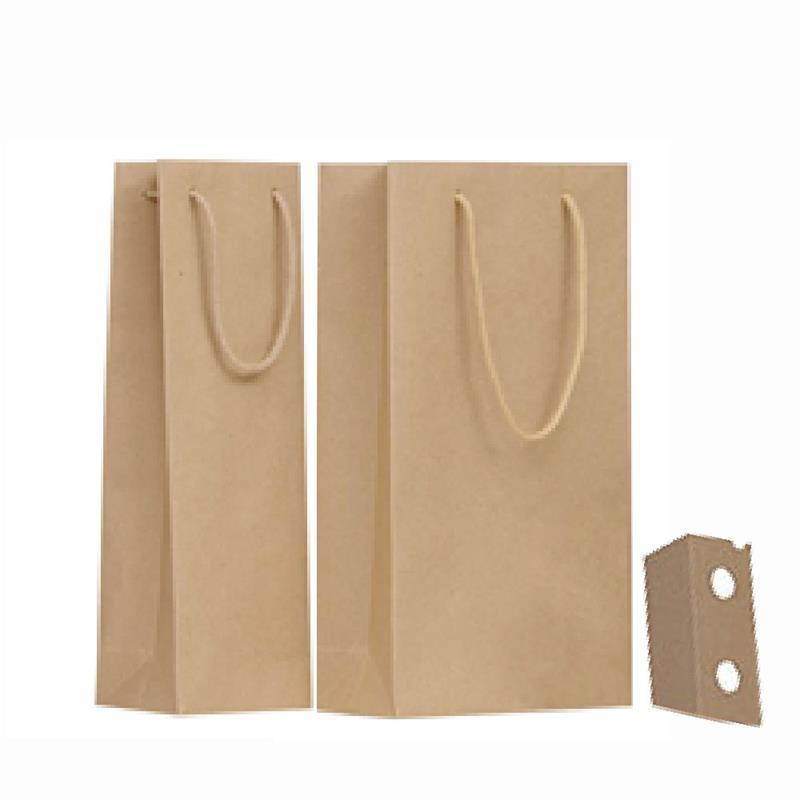 shopper carta riciclata avana manico cotone passante per i soffietti