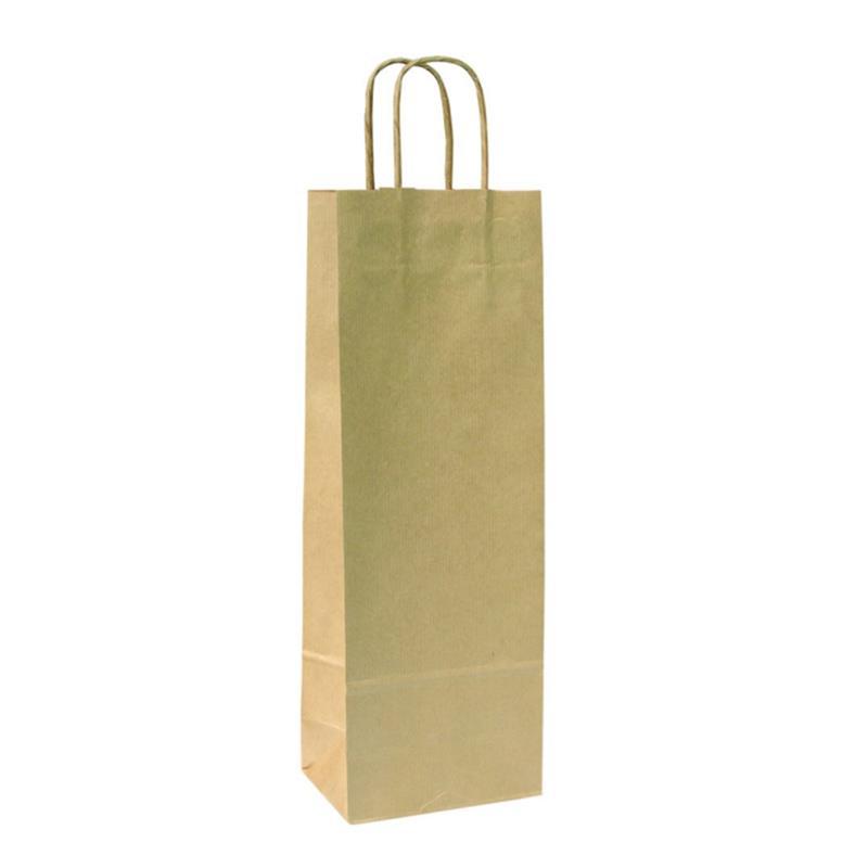shopper in carta sealing avana lato ruvido manico cordino