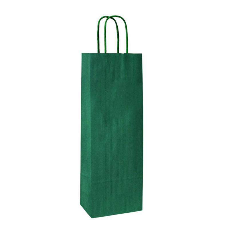 shopper in carta sealing avana verde lato ruvido manico cordino