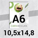 PICCOLO FORMATO STAMPA DIGITALE VOLANTINI & FLYER IN CARTA RICICLATA VOLANTINI & FLYER IN CARTA RICICLATA F.to A6